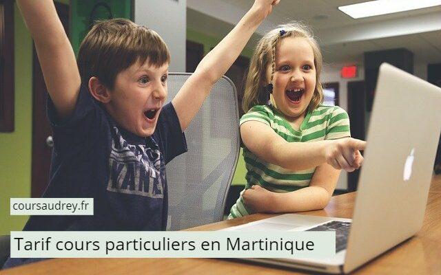 Tarifs cours particuliers en Martinique