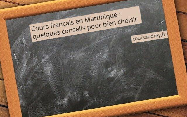 cours français en Martinique conseils pour choisir